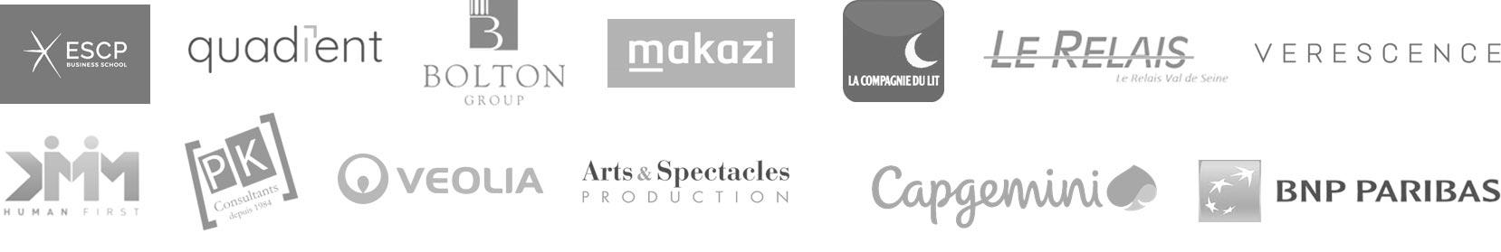 logos des sociétés ayant fait confiance à idimways